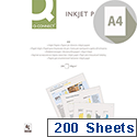 Q-Connect A4 Premium Inkjet Printer Paper 100gsm Pack of 200 KF01553