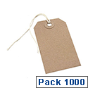 Q-Connect Strung Tag 134x67mm Buff Pack of 1000 KF01612