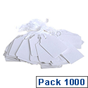 Q-Connect Strung Ticket 21x13mm White Pack of 1000 KF01615