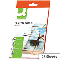 Q-Connect Photo Gloss Paper 100x150mm 180gsm (Pack of 25)