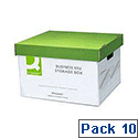 Q-Connect Business Easy Set Up Storage Box Pack 10