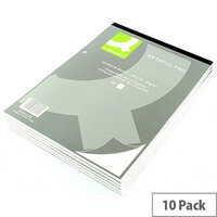Refill Pad A4 Ruled Narrow Feint Punched 2-Hole Head Bound 80 Leaf 10 Pack Q-Connect