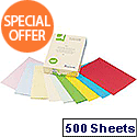 A4 Bright Assorted Coloured Copier Paper 80gsm  Ream Q-Connect