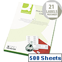 Q-Connect Multi-Purpose White Labels 63.5x38mm (10.500 Labels)