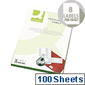 Q-Connect Multi-Purpose White Labels 99.1x67.7mm 8 per A4 Sheet Die Cut (Pack of 800 Labels)