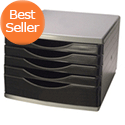 Q-Connect 5 Drawer Tower Black/Grey KF02253