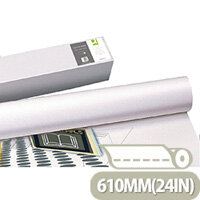 Q-Connect Plotter Paper 610mm x50 Metres 80gsm Pack of 4 Rolls