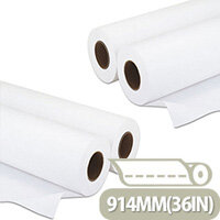 Q-Connect Plotter Paper 914mm x50 Metres 80gsm Pack of 4 Rolls
