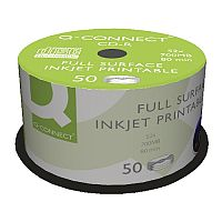 Q-Connect Inkjet Printable CD-R Spindle Pack 50