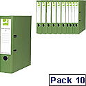 Green colour lever arch file
