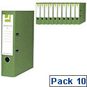 Green lever arch file