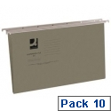 Vertical Suspension File Tabbed A4 Pack of 10 Q-Connect KF21017
