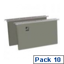 Vertical Suspension File Tabbed Foolscap Pack of 10 Q-Connect KF21018