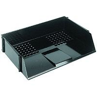 Q-Connect Wide Entry Letter Tray Black