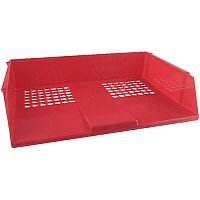 Q-Connect Wide Entry Letter Tray Red