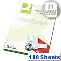 Q-Connect Multi-Purpose Labels 63.5x38mm (2100 Labels)