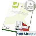Q-Connect Multi-Purpose White Labels 63.5x46.5mm (1800 Labels)