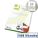 Q-Connect Multi-Purpose Labels 64x33.9mm (2400 Labels)