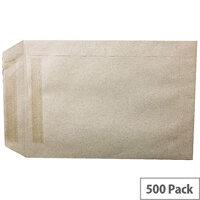 Q-Connect  C5 Manilla Envelopes Pocket Press Seal 90gsm Pack 500 KF3441