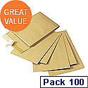 Q-Connect Gusset Envelope C4x25mm Manilla Peel and Seal Pack of 100 KF3527