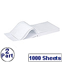 Q-Connect White 2-Part NCR Listing Paper Pack of 1000