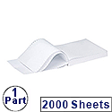 Q-Connect Listing Paper 296 x 235mm A4 1-Part 70gsm Plain Micro-Perforated Pack 2000