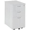 Jemini 3 Drawer Desk High Pedestal 600mm White KF74149