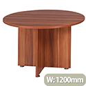 Avior 1200mm Round Meeting Table Cherry