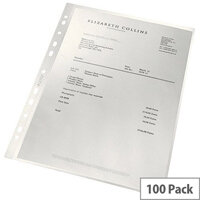 Leitz ReCycle Punched Pockets Pack of 100 4791-10-03
