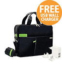 """Leitz Complete 13.3"""" Laptop Smart Traveller with FREE Travel USB Wall Charger"""