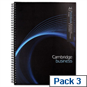 Cambridge A4 Wirebound Notebook Punched 4 Holes Margin 160 Pages M76767 Pack 3