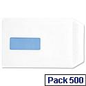 C5 Window White Envelopes Pocket Press Seal Pack 500 5 Star