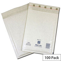 Mail Lite Bubble-Lined Postal Bag Self-Seal White 150x210mm Pack of 100 MLW C/0