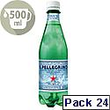 San Pellegrino Sparkling Natural Mineral Water Bottel 500ml Pack of 24