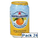 San Pellegrino Orange Sparkling Can 330ml (Pack 24)