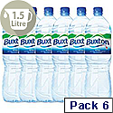 Buxton Natural Mineral Water Bottle Plastic 1.5 Litre Still A02761 Pack 6