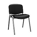 O.I Series Black Vinyl Chrome Legs Stacking Chair