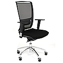 Ergonomic Mesh Task Chair With Lumbar Support & Adjustable Arms Black OZ Series