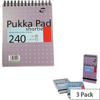 Pukka Pad Metallic A5 Shortie Writing Pad 3 Pack SM024