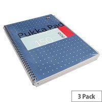 Pukka Pad Metallic A4 Easy-riter 80gsm Pad 3 Pack