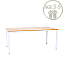 Rectangular Pre School Table White Frame 1200x600x500mm