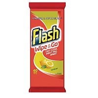 Flash Wipe and Go Lemon 40 Wipes (Pack of 1) 5410076791750
