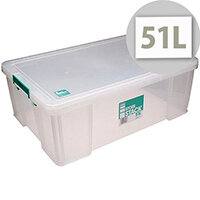 StoreStack 51L Plastic Storage Box W660xD440xH230mm RB11089