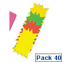 RDI Fluorescent Star Flash Small Assorted Pack of 40