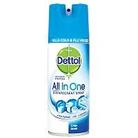 Dettol Air Freshener Anti-Bacterial All in One Disinfectant Spray Crisp Linen Fragrant Scent 400ml Can 3021337