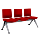 Atenea 3 Seater Bench in Red