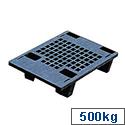 Pallet Plastic Recycled Black 322321 Capacity 500kg