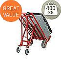 Hand Truck 3-in-1 PU Wheel/Castors Red 372146