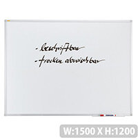Franken X-tra!Line Whiteboard Plastic Coated Surface 1500x1200mm SC3014