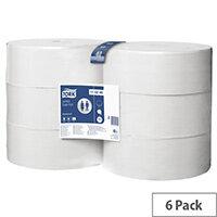 Tork White Jumbo Toilet Roll 1700 Sheets 340m (Pack of 6) 110246